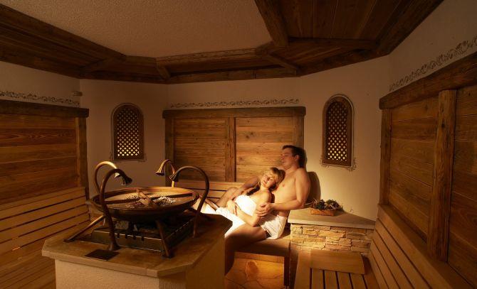 Sauna im Waldhotel Doldenhorn