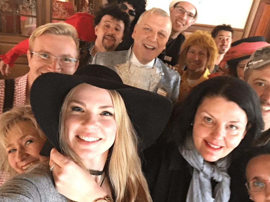 Selfie von einem Team beim Krimi Weekend