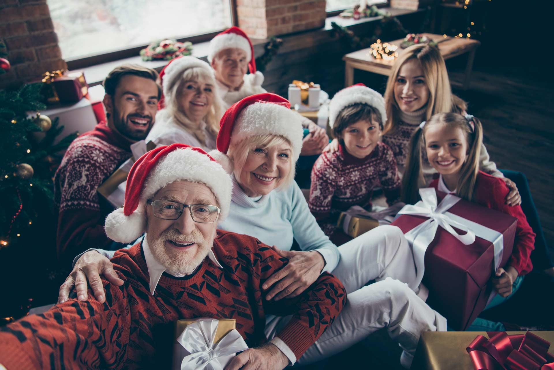 Weihnachtsfest mit der ganzen Familie
