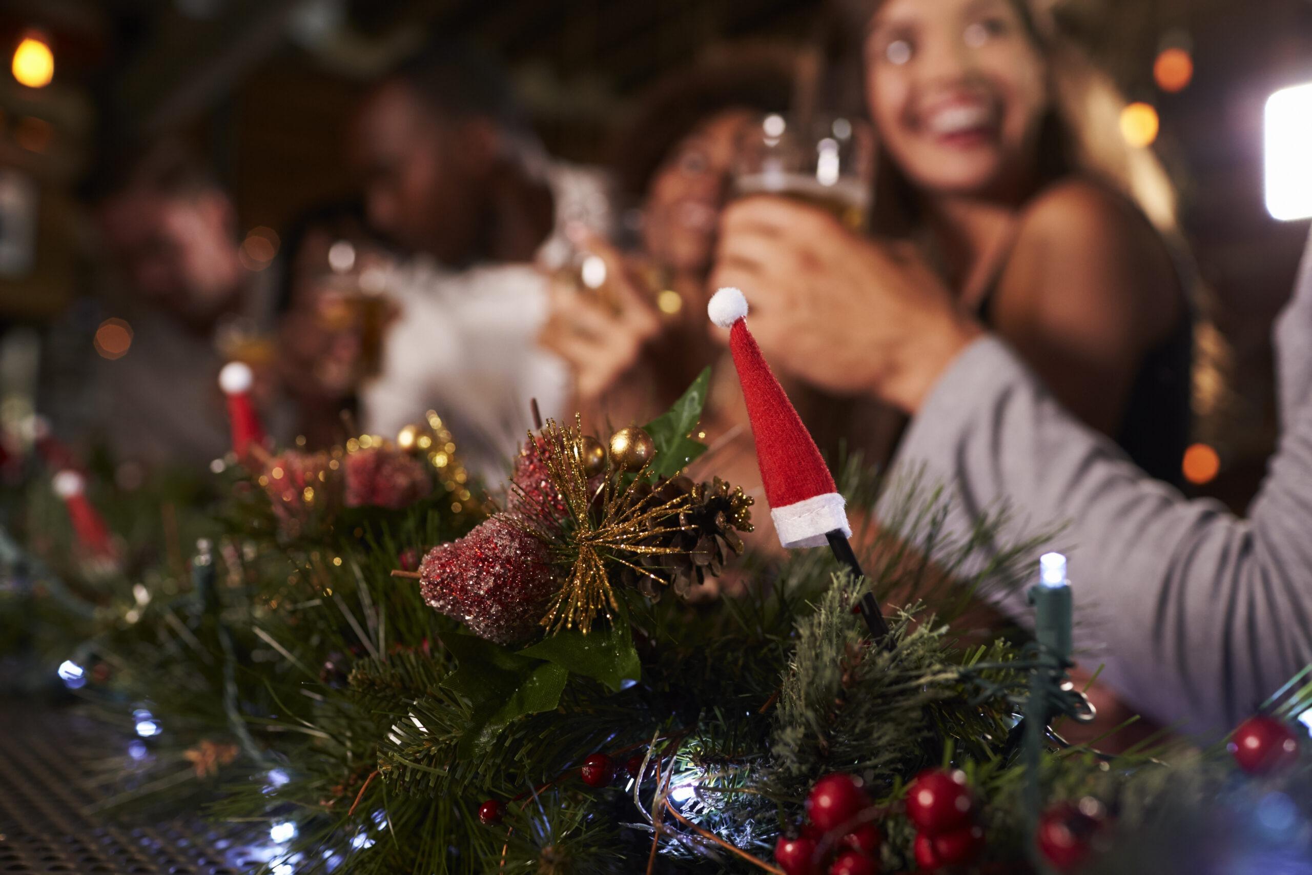 weihnachtsfeier mit einem verein